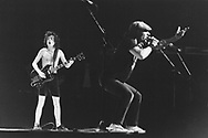 AC/DC 1980 Angus Young and Brian Johnson.© Chris Walter.