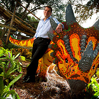 POLK COUNTY, FL – October 13, 2011 -- Merlin Entertainments Group CEO Nick Varney poses for a portrait at Coastersaurus, the only wooden coaster any LEGOLAND Park, at Central Florida's newest theme park, LEGOLAND® Florida.  Opening October 15, 2011 just outside Orlando, LEGOLAND Florida will provide interactive entertainment for families with children ages 2-12 . (PHOTO/LEGOLAND Florida, Merlin Entertainments Group, Chip Litherland).