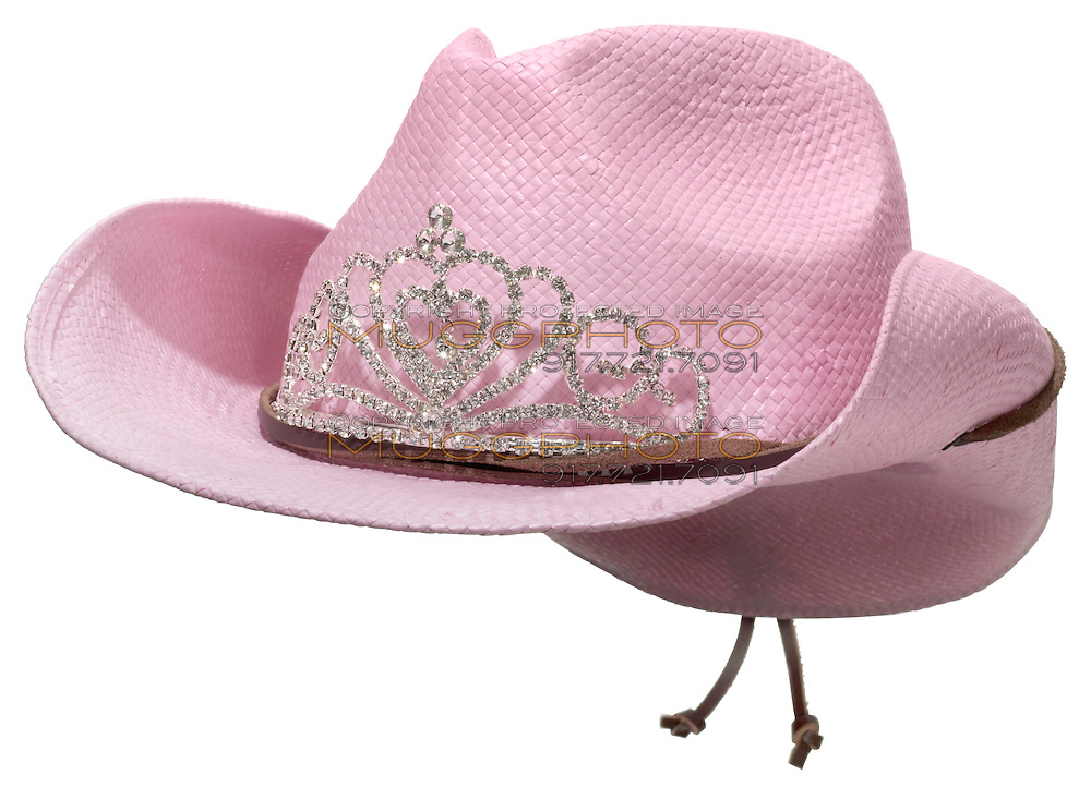 pink cowgirl hat with a tiara