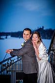 Nancy & Ryan's winter evening wedding