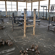 Deerfield Correctional Facility's weight room sits deserted after the last 33 of 1,200 prisoners were transported out of the closing prison in Ionia, MI, Friday, March 20, 2009. The prisoners were transferred to West Shoreline Correctional Facility in Muskegon, MI.