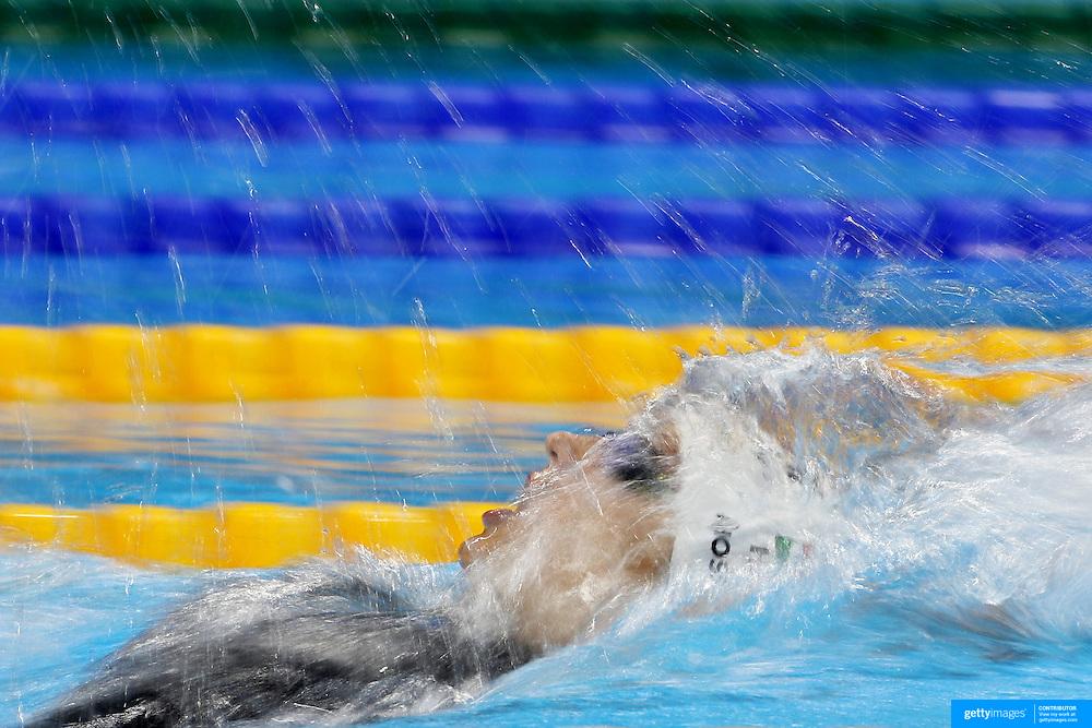 Swimming - Olympics: Day 6   Katinka Hosszu of Hungary winning the Women's 200m Backstroke semifinal during the swimming competition at the Olympic Aquatics Stadium August 11, 2016 in Rio de Janeiro, Brazil. (Photo by Tim Clayton/Corbis via Getty Images)