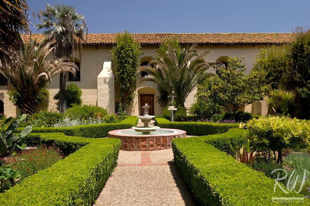 Mission Santa Ines Courtyard Garden, Solvang, California