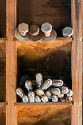 WY02289-00...WYOMING - Lag bolts in work shed at the Willow Creek Ranch.