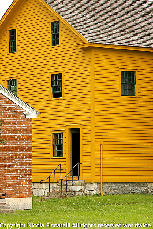 Shaker style house at the Shaker Village in Hancock Massachussets.