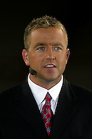 15 September 2007: ESPN TV personality, Kirk Herbstreit, during a post game broadcast of the USC Trojans and the Nebraska Cornhuskers at Memorial Stadium in Lincoln, NE.