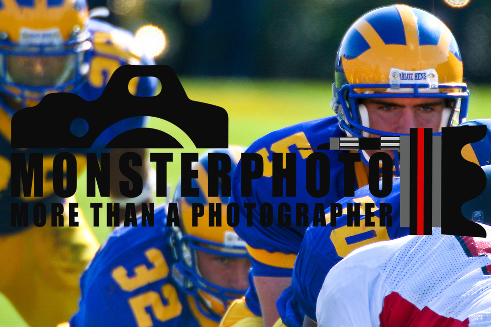 10/13/07 NEWARK:  DE The University of Delaware, behind the running of All-American senior (#28) Omar Cuff...Buy/License/Royalty Free @ monsterphotoiso.com.