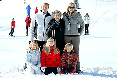 FEB 18 2013 Dutch Royals on Wintersport Vacation in Lech