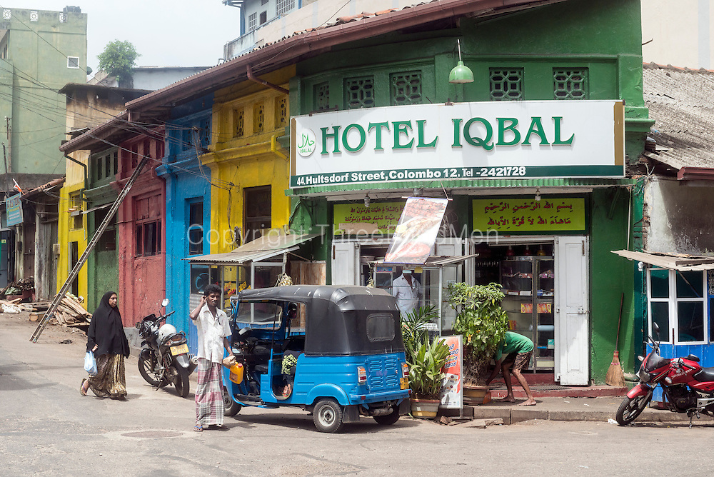 Hotel Iqbal on the corner of Hultsdorf Street in Colombo 12.