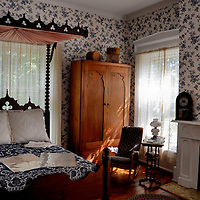 Abe Lincoln Slept Here at William Fithian Home in Danville, Illinois<br /> Dr. William Fithian was a 19th century physician. He frequently hosted his friend, Abraham Lincoln, at his home in Danville, Illinois. This second floor bedroom remains virtually the same as it was in 1858. On September 21 of that year, Lincoln gave a U.S. Senate campaign speech from this room&rsquo;s balcony window and then slept in this canopy bed. The women who provide tours of this home and the Vermillion County Museum next door are passionate, knowledgeable and welcoming.