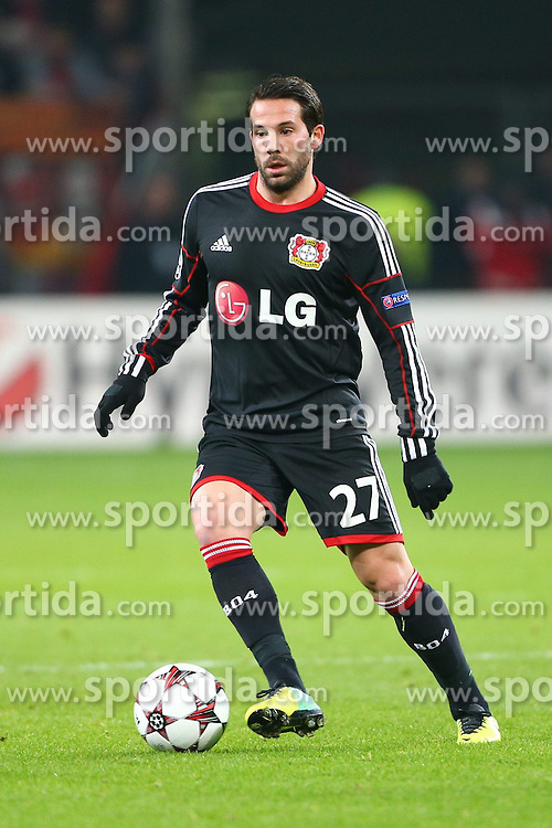27.11.2013, BayArena, Leverkusen, GER, UEFA CL, Bayer Leverkusen vs Manchester United, Gruppe A, im Bild Gonzalo Castro (Bayer 04 Leverkusen), Freisteller, Aktion /Action // during UEFA Champions League group A match between Bayer Leverkusen vs Manchester United at the BayArena in Leverkusen, Germany on 2013/11/28. EXPA Pictures &copy; 2013, PhotoCredit: EXPA/ Eibner-Pressefoto/ Neis<br /> <br /> *****ATTENTION - OUT of GER*****