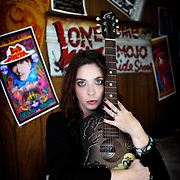Local musician Lonesome Liz has worked with the Drive-by Truckers artist Wes Freed, Timbuk III's Pat MacDonald, Jesco White the Dancing Outlaw and several other artists who have performed or worked in some way with Hank Williams, III. (Photo by Joe Imel/The Amplifier)