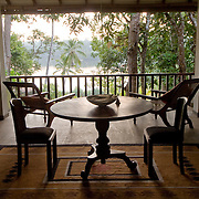 Sri Lanka. The River House. A boutique hotel...The balcony overlooking the river.