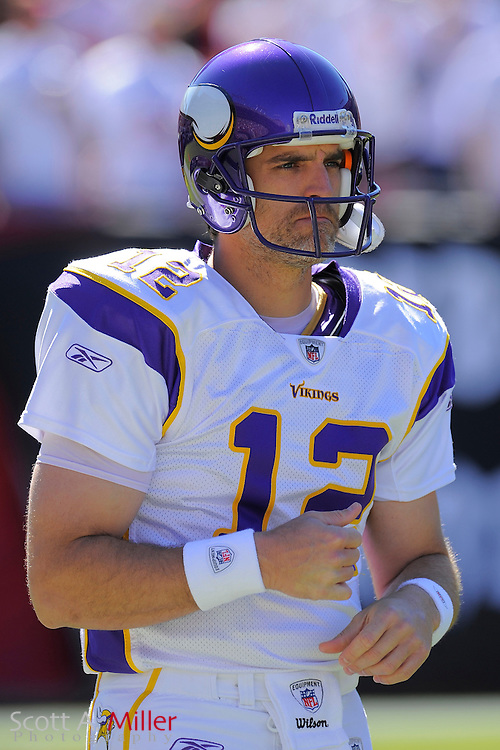 Nov. 16, 2008; Tampa, FL, USA; Minnesota Vikings quarterback Gus Frerotte (12) prior to the  Vikings game against the Tampa Bay Buccaneers at Raymond James Stadium. The Bucs won 19-13. ...©2008 Scott A. Miller