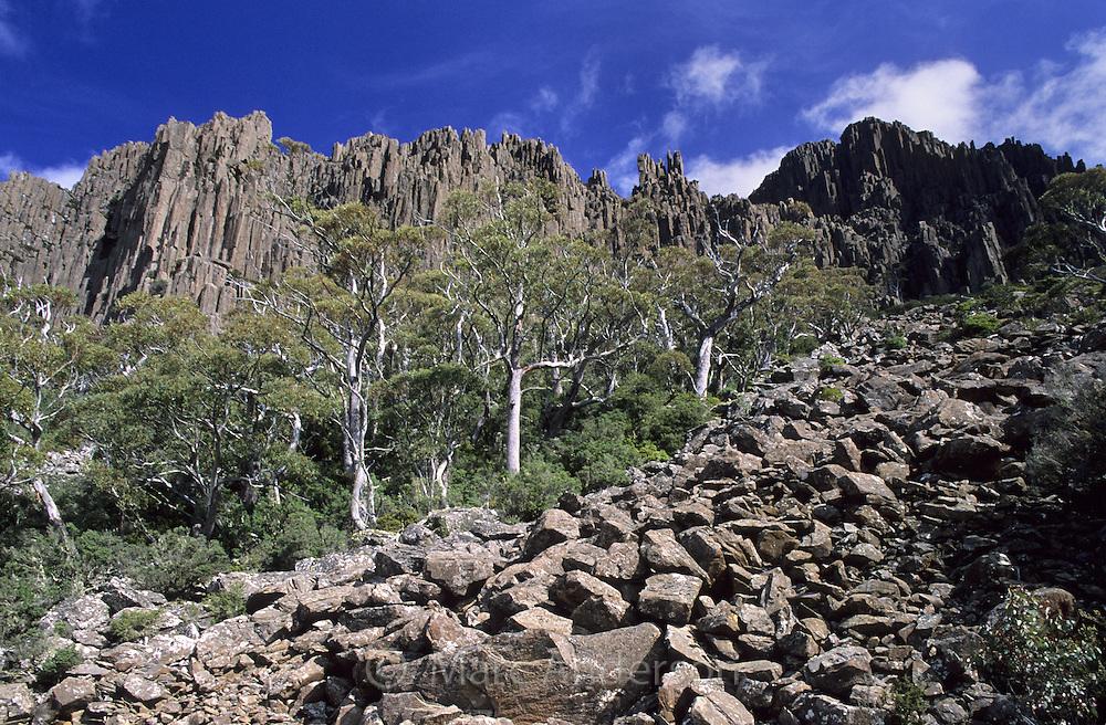 Mountainous countryside in the Ben Lomond National Park, Tasmania