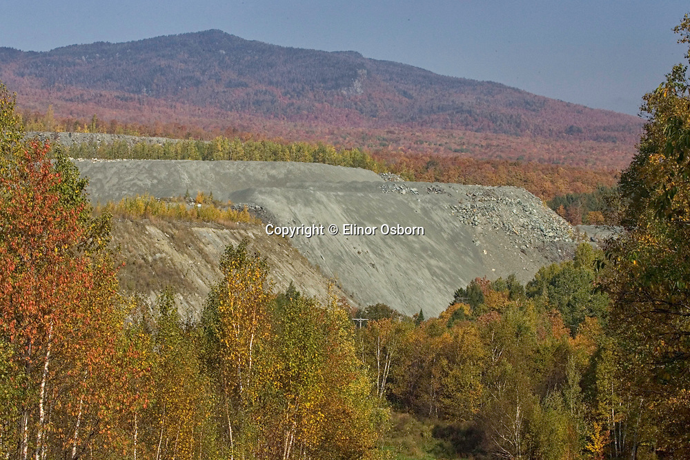 Asbestos mine on Belvidere Mountain