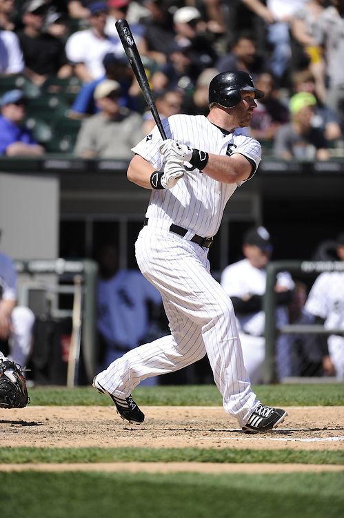 CHICAGO - MAY 15:  Adam Dunn #32 of the Chicago White Sox bats against the Detroit Tigers on May 15, 2012 at U.S. Cellular Field in Chicago, Illinois.  The Tigers defeated the White Sox 10-8.  (Photo by Ron Vesely)   Subject:   Adam Dunn