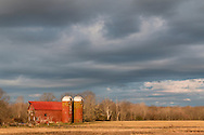 Wallkill, New York - A farm and barn in morning sunlight on April 11, 2015. ©Tom Bushey / The Image Works
