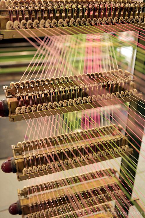 Europe, Ireland, Avoca. Avoca Handweavers Mill, County Wicklow. Woollen strings.