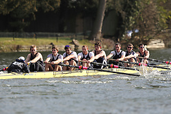 2012.02.25 Reading University Head 2012. The River Thames. Division 1. Upper Thames Rowing Club IM1 8+.