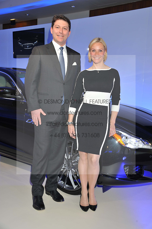 GIULIO PASTORE Ceo Maserati Europe and VICKI BUTLER-HENDERSON at a VIP dinner hosted by Maserati following the unveiling of the new Maserati 'Quattroporte' at The Hurlingham Club, London on 17th April 2013.
