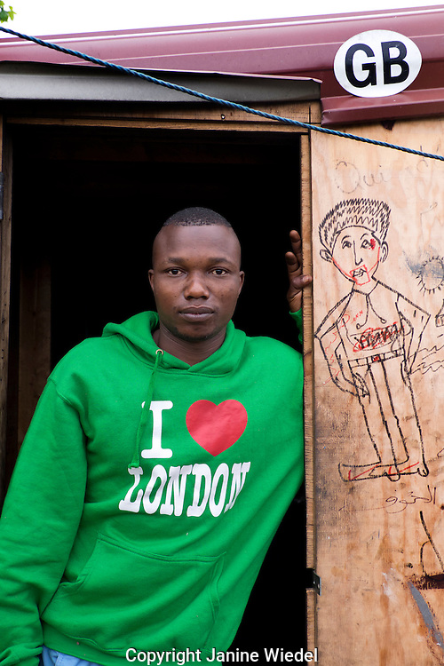 Saddam from Darfour Sudan living for 5 months in The Calais Jungle Refugee and Migrant Camp in France