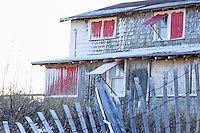 Picture of a Kill Devil Hills beach cottage in the snow.