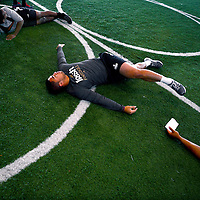 2/18/13 10:07:22 AM -- Bradenton, FL, U.S.A. -- NFL prospect and former Notre Dame linebacker Manti Te'o works out at IMG Academy in Bradenton, Fla., in preparation for this year's NFL Combine.  -- ...Photo by Chip J Litherland, Freelance.