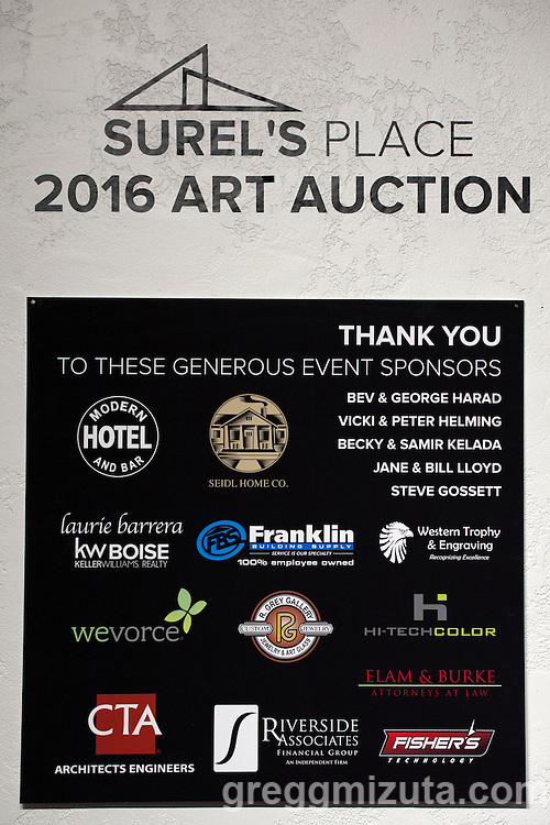 Surel's Place Art Auction fundraiser on June 11, 2016 at the Visual Art Collective, Garden City, Idaho.