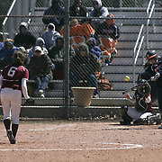 Delmar Wildcats Infielder Ashton Riddle (13) singles during a varsity schedule game between Caravel Academy and The Delmar Wildcats Saturday, April 4, 2015, at Caravel Athletic Field in Bear Delaware.