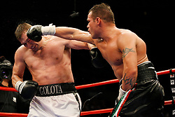 January 19, 2008; New York, NY, USA;  Andrew Golota and Mike Mollo trade punches during their 12 round heavyweight bout at Madison Square Garden in New York, NY.  Golota won the bout via unanimous decision.