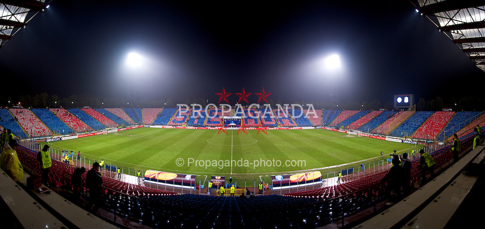 BUCHAREST, ROMANIA - Thursday, February 25, 2010: The Steaua Stadium before the UEFA Europa League Round of 32 2nd Leg match between FC Unirea Urziceni and Liverpool. (Photo by David Rawcliffe/Propaganda)