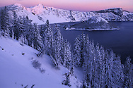 Winter Sunrise.Crater Lake Natl.Park.Oregon.USA