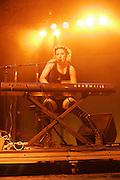 June 17, 2006; Manchester, TN.  2006 Bonnaroo Music Festival..The Dresden Dolls peforms at Bonnaroo 2006.  Photo by Bryan Rinnert