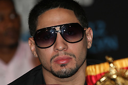 Aug 30, 2012; Brooklyn, NY, USA; Unified Super Lightweight Champion Danny Garcia at the press conference at New York Marriott at the Brooklyn Bridge. The press conference announced the upcoming October 20th card at the Barclay's Center.
