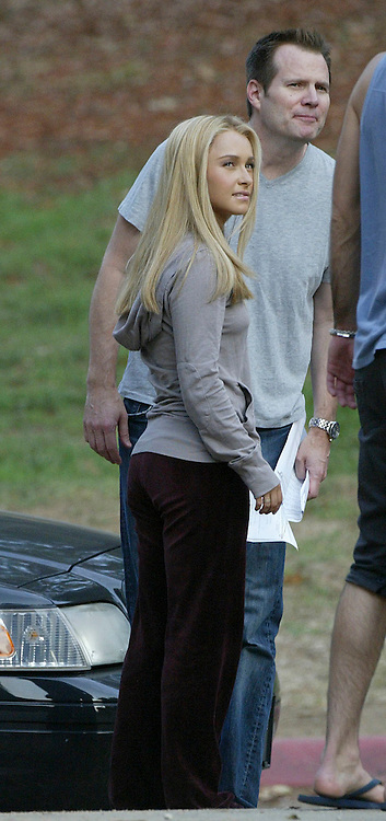Los Angeles, CALIFORNIA - FRIDAY 11TH July 2008 NON EXCLUSIVE: . Hayden Panettiere and Jack Coleman rehearse a scene together for 'Heroes' . Zachary Quinto who will play Spock in the next Star Trek movie nervously bites his finger nails as he watches Hayden and Jack rehearse since he had to do his own rehearsal after them. Photograph: On Location News. Sales: Eric Ford 1/818-613-3955 info@OnLocationNews.com
