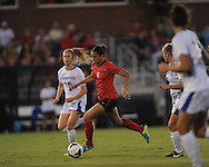 Ole Miss' Rafaelle Souza (6) vs. Memphis' Alex Craig (15) in soccer action at the Ole Miss Soccer Stadium in Oxford, Miss. on Sunday, September 15, 2013. Ole Miss won 3-0.