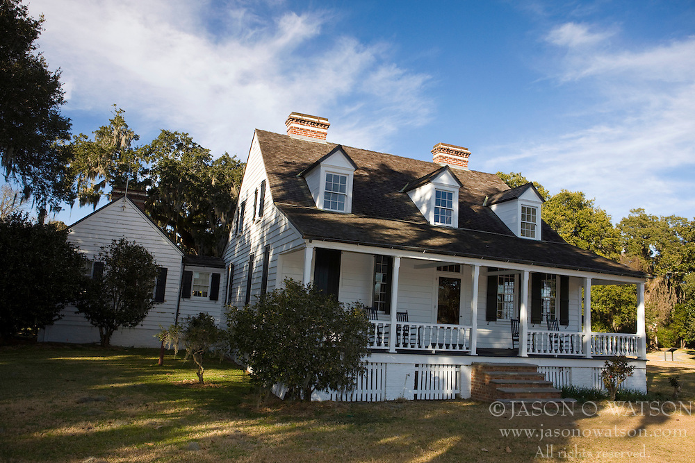 Home on the grounds of the Charles Pinckney National Historic Site, near Charleston, South Carolina, United States of America.