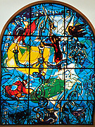 The Tribe of Dan. The Twelve Tribes of Israel depicted in stained glass By Marc Shagall (1887 - 1985). The Twelve Tribes are Reuben, Simeon, Levi, Judah, Issachar, Zebulun, Dan, Gad, Naphtali, Asher, Joseph, and Benjamin.