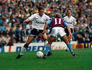 Tottenham Hotspur v Aston Villa 29.9.1990
