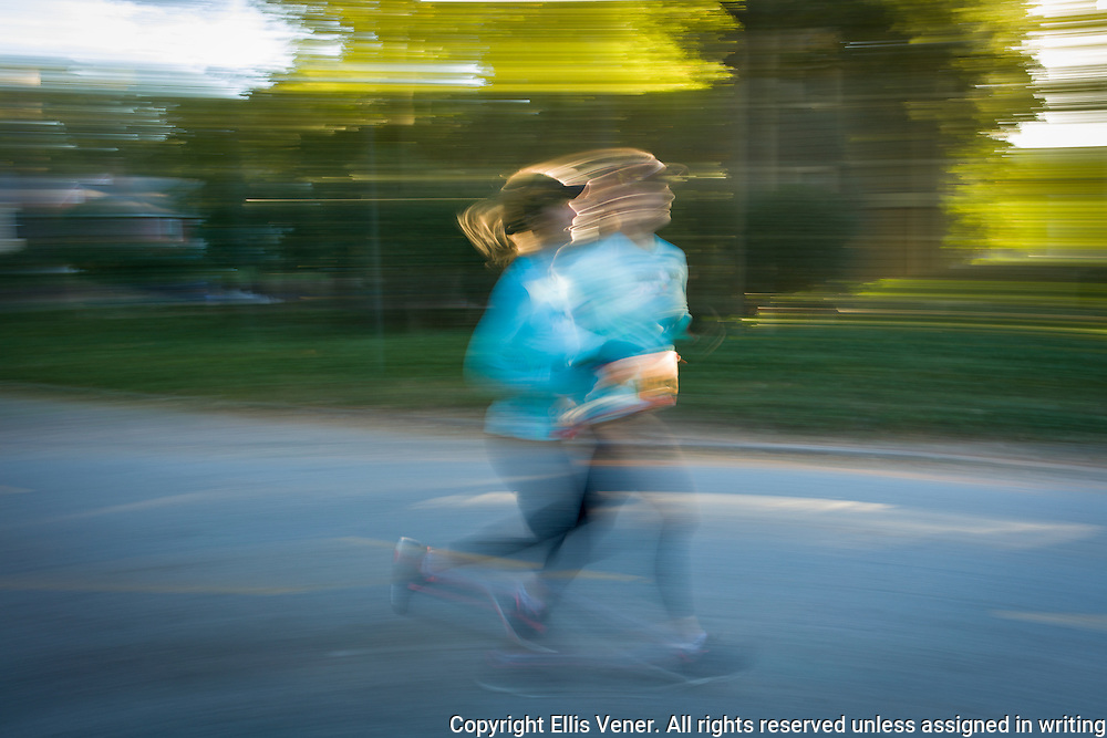 Female 10K runner