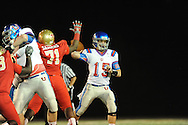 Lafayette High vs. Memphis University School's James Sexton (15) in Oxford, Miss.  on Friday, September 27, 2013. MUS won.