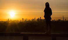2016-02-29 Glorious sunrise over London seen from Primrose Hill