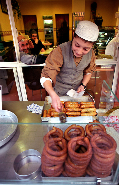 "Selling lukuma sweets, in the ""Islamic area Tsarsaba"" in Fatih..ISTANBUL, Androniki Christodoulou/WorldPictureNews"