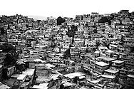 Cinder block homes in Petare, a large and violent slum on the outskirts of Caracas. Four-fifths of murders in Venezuela take place in the slums.