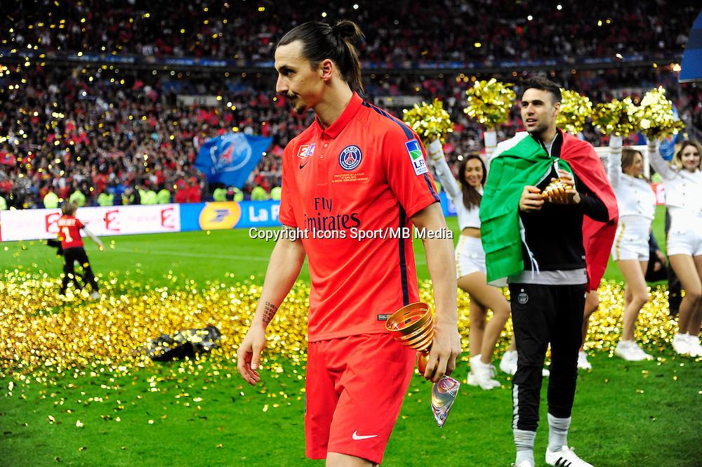 Victoire du PSG  / Zlatan IBRAHIMOVIC - 11.04.2015 -  Bastia / PSG - Finale de la Coupe de la Ligue 2015<br /> Photo : Dave Winter / Icon Sport