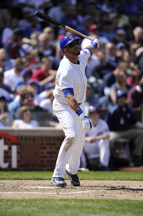 CHICAGO - APRIL 16:  Aramis Ramirez #16 of the Chicago Cubs bats against the Houston Astros on April 16, 2010 at Wrigley Field in Chicago, Illinois.  The Cubs defeated the Astros 7-2.  (Photo by Ron Vesely)