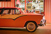 1956 Ford on display at The Route 66 Place and Twisters Soda Fountain on historic Route 66 in Williams, Arizona.