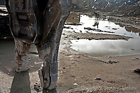 ©Stefano Meluni.23-02-2010 Roma,Ostia.Idroscalo di Ostia, Il Comune vorrebbe abbattere la prima fila di case tutte abusive che si affacciano sul mare...
