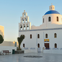 Church on main square in town of Oia,Santorini, Kyclades,South Aegean, Greece,Europe